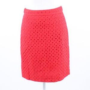 J. Crew red back slit pencil skirt 2